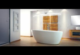 Volně stojící vana dodá vaší koupelně nádech luxusu